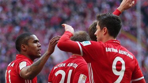 Vong 24 Bundesliga 201617 Bayern Munich cham mot tay vao ngoi vuong hinh anh