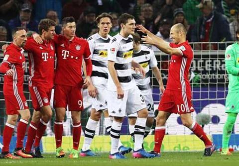 Tong hop: Gladbach 0-1 Bayern Munich (Vong 25 Bundesliga 2016/17)