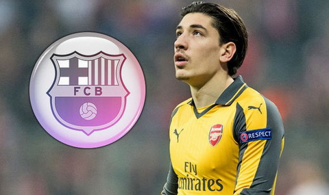 Giam doc the thao Robert Fernandez cua Barcelona toi London nham dua Hector Bellerin tro ve Camp Nou.
