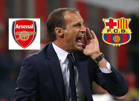 Vi Barca, HLV Allegri quyet dinh lat keo voi Arsenal hinh anh