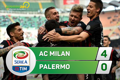 Tong hop AC Milan 4-0 Palermo (Vong 31 Serie A 201617) hinh anh