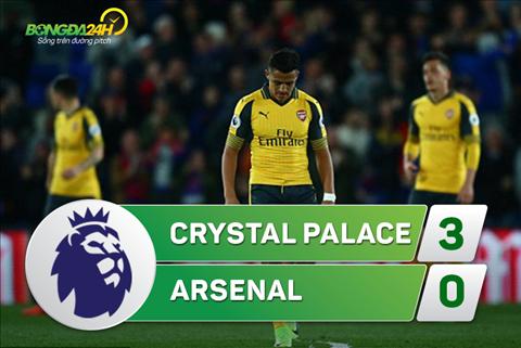 Tong hop Crystal Palace 3-0 Arsenal (Vong 32 NHA 201617) hinh anh