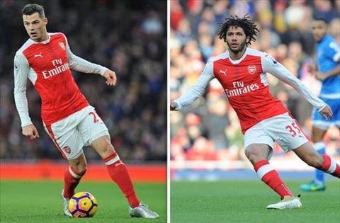 Goc Arsenal Chua the an tam voi cap Xhaka va Elneny hinh anh