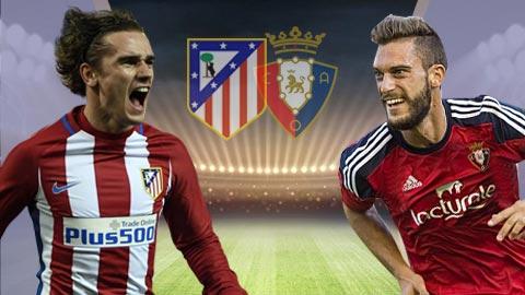 Nhan dinh Atletico Madrid vs Osasuna 23h30 ngay 154 (La Liga 201617) hinh anh