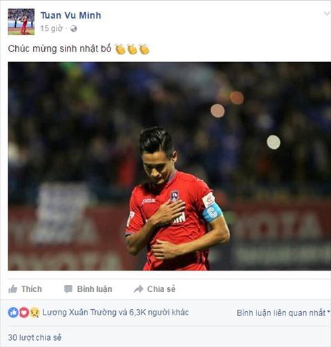 Xuc dong voi pha an mung ban thang cua Minh Tuan tran Quang Ninh vs HAGL hinh anh