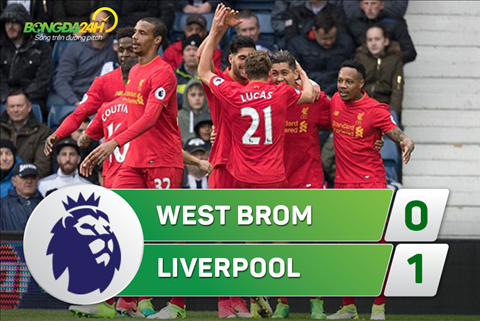 Tong hop: West Brom 0-1 Liverpool (Vong 33 NHA 2016/17)
