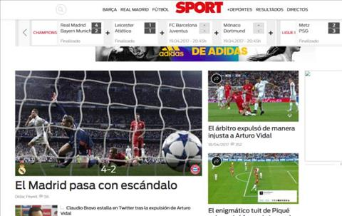 Bao chi khen  trong tai chu khong phai Ronaldo sau tran Real 4-2 Bayern hinh anh