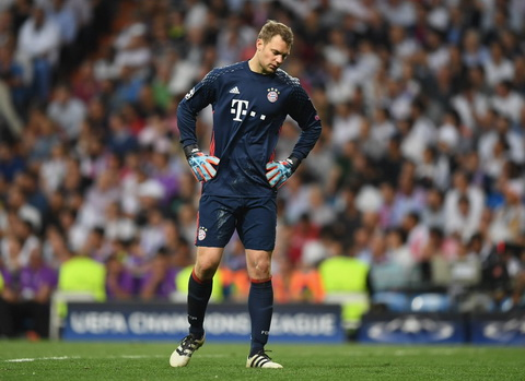 Manuel Neuer dinh chan thuong sau tran thua Real Madrid.