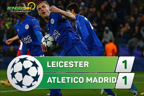 Ket qua tran Leicester 1-1 Atletico