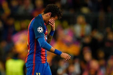 Neymar oa khoc sau khi Barca dung chan o tu ket hinh anh