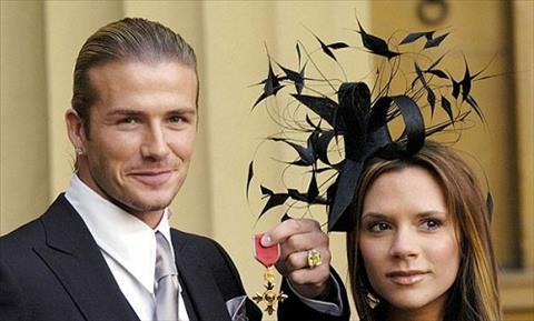 Vo David Beckham nhan huan chuong Hoang gia Anh hinh anh