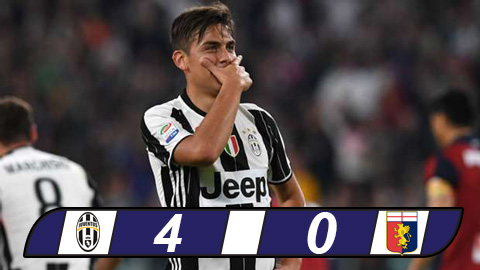 Juventus 4-0 Genoa: Scudetto trong tam tay