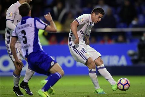Du am Deportivo 2-6 Real James Rodriguez chung to gia tri hinh anh