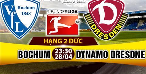 Nhan dinh Bochum vs Dynamo Dresden 23h30 ngay 284 (Hang 2 Duc 201617) hinh anh