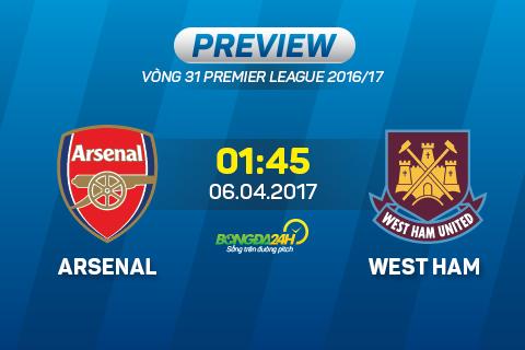 Arsenal vs West Ham (1h45 ngay 64) Wenger tram Bilic hinh anh