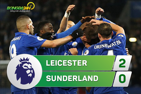 Tong hop Leicester 2-0 Sunderland (Vong 31 NHA 201617) hinh anh