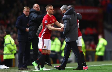 Luke Shaw dang duoc Mourinho bao boc rat ky