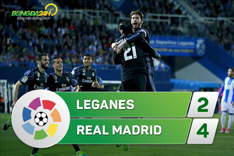 Tong hop: Leganes 2-4 Real Madrid (Vong 30 La Liga 2016/17)