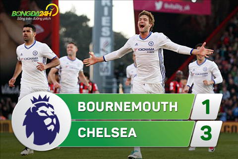 Tong hop Bournemouth 1-3 Chelsea (Vong 32 NHA 201617) hinh anh