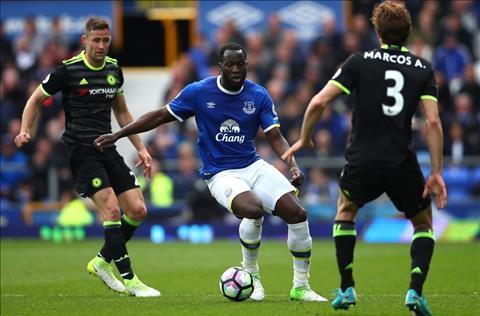 Everton 0-3 Chelsea Lukaku di bong truoc Alonso va Cahill