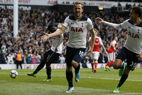 Harry Kane an dinh ty so truoc Arsenal