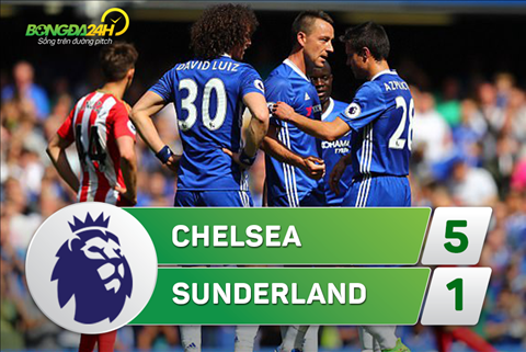 Tong hop Chelsea 5-1 Sunderland (Vong 38 NHA 201617) hinh anh