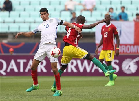 Tong hop U20 Anh 1-1 U20 Guinea (Bang A U20 World Cup 2017) hinh anh