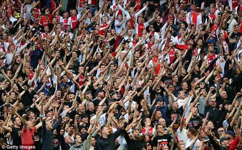 Cac CDV Ajax to ra qua khich trong tran chung ket Europa League.