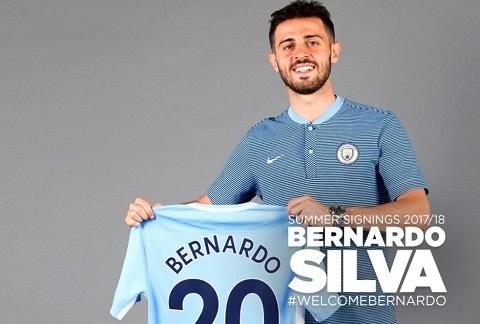 Bernardo Silva gia nhap Man City voi gia 50 trieu Euro