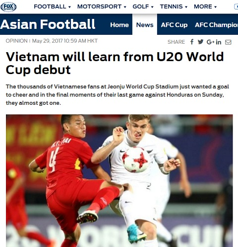 Tieu de bai bao Viet Nam se hoc hoi tu san choi World Cup tren to Fox Sports Asia