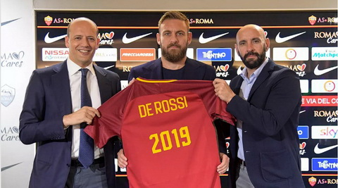 Daniele De Rossi se gan bo voi AS Roma them hai nam.