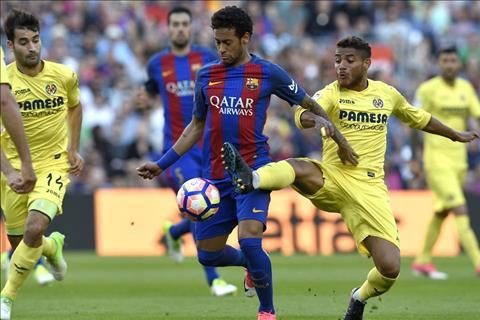 Neymar cua Barca di bong truoc Villarreal