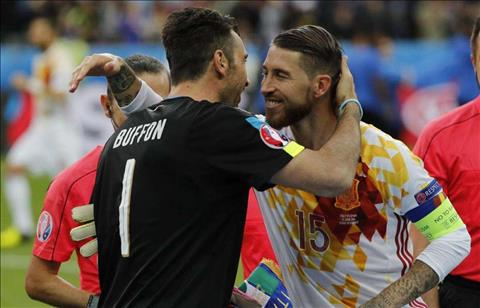 Sergio Ramos Choi Panenka voi Buffon la tu sat hinh anh