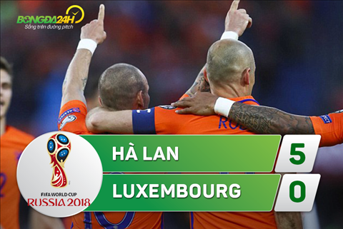 Tong hop: Ha Lan 5-0 Luxembourg (Vong loai World Cup 2018)
