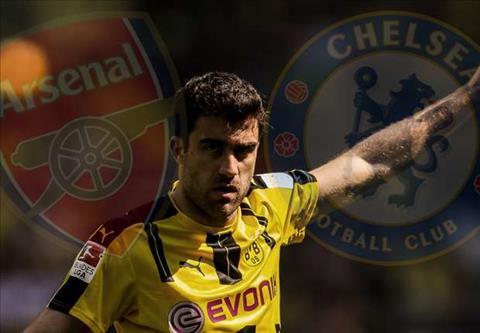 Chelsea va Arsenal dai chien vi trung ve Sokratis hinh anh 2