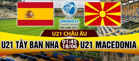 Nhan dinh U21 TBN vs U21 Macedonia 01h45 ngay 186 (U21 chau Au 2017) hinh anh