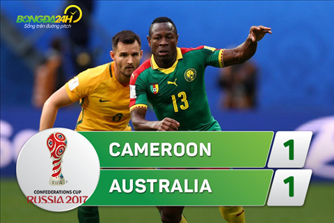 Tong hop Cameroon 1-1 Australia (Confed Cup 2017) hinh anh
