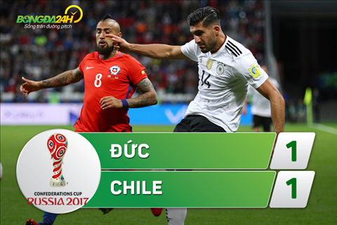 Tong hop: Duc 1-1 Chile (Confed Cup 2017)