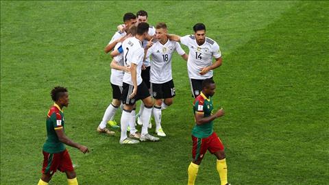 Thang Cameroon, hau ve Antonio Rudiger to ra vui mung hinh anh