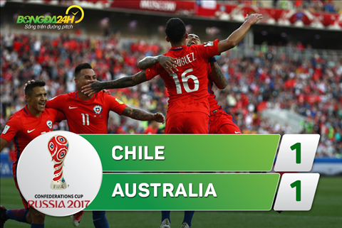 Tong hop Chile 1-1 Australia (Confed Cup 2017) hinh anh