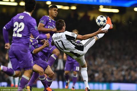 Juventus khong the tao ra them mot khoanh khac nhu cua Mandzukic khi bi dan truoc lan thu hai.