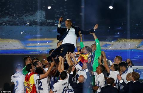 HLV Zidane duoc tung len boi cac cau thu
