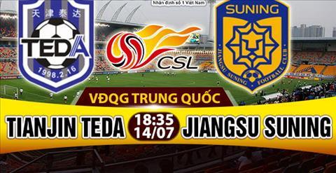Nhan dinh Tianjin Teda vs Jiangsu Suning 18h35 ngay 147 (VDQG Trung Quoc) hinh anh