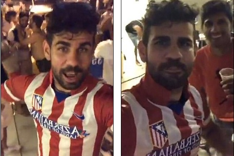 Costa noi loan, mac ao cua Atletico