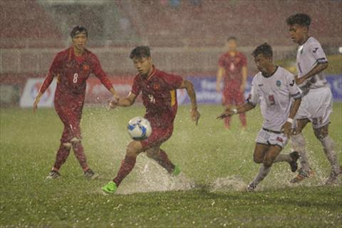 U22 Viet Nam 4-0 U22 Timor Leste Troi mua thi mac troi mua hinh anh 2