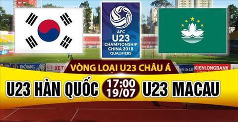 Nhan dinh U23 Han Quoc vs U23 Macau 16h00 ngay 197 (VL U23 chau A 2018) hinh anh