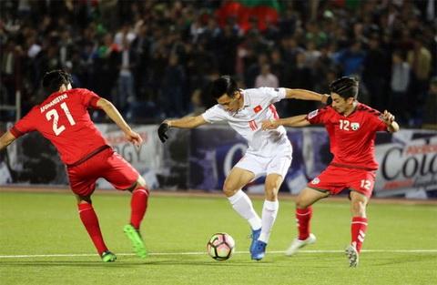 Doi tuyen bong da Afghanistan nam cung bang voi DT Viet Nam tai vong loai Asian Cup 2019.