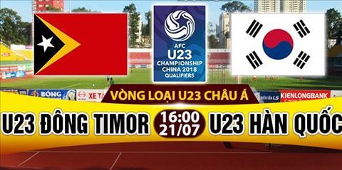 Nhan dinh U23 Dong Timor vs U23 Han Quoc 16h00 ngay 217 (VL U23 chau A 2018) hinh anh