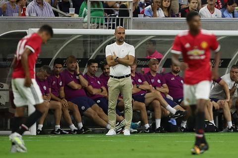 Pep Guardiola con rat nhieu viec phai lam sau tran derby Manchester tren dat My.