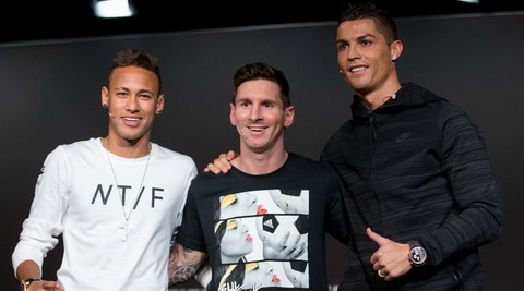 Cris Ronaldo thua nhan lay dong luc thi dau tu Lionel Messi va Neymar.